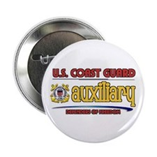 "Cute Coast guard auxiliary 2.25"" Button (100 pack)"