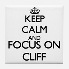 Keep Calm and Focus on Cliff Tile Coaster