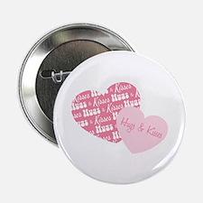 """Hugs & Kisses 2.25"""" Button (10 pack)"""