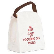 Keep Calm by focusing on Pixels Canvas Lunch Bag