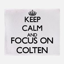 Keep Calm and Focus on Colten Throw Blanket