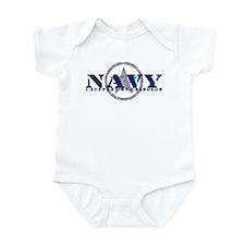 Navy - I Support My Grandson Infant Bodysuit