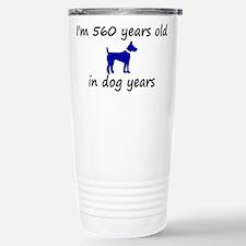 80 dog years blue dog 2 Travel Mug