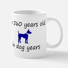 80 dog years blue dog 2 Mugs