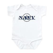 Navy - I Support My Granddaughter Infant Bodysuit