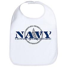 Navy - I Support My Granddaughter Bib