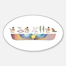 Angora Hieroglyphs Oval Decal