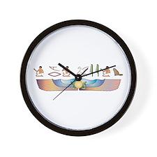 Angora Hieroglyphs Wall Clock