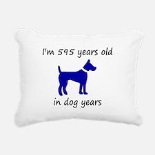 85 dog years blue dog 1C Rectangular Canvas Pillow