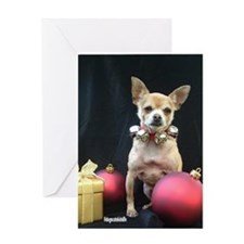 Cute Dog breed christmas Greeting Card