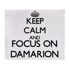 Keep Calm and Focus on Damarion Throw Blanket