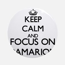 Keep Calm and Focus on Damarion Ornament (Round)