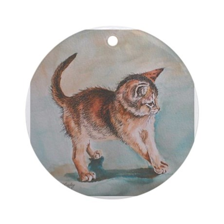 """Aby Kitten """"Grapevine"""" Ornament (Round)"""