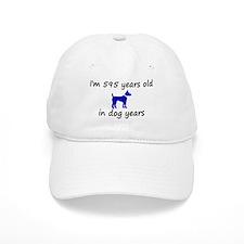 85 dog years blue dog 2 Baseball Baseball Cap