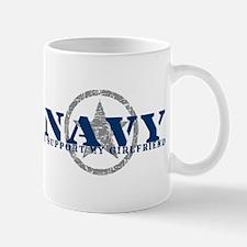Navy - I Support My Girlfriend Mug