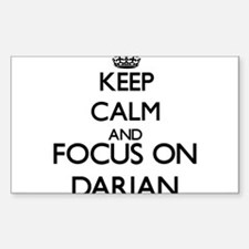 Keep Calm and Focus on Darian Decal