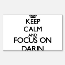 Keep Calm and Focus on Darin Decal
