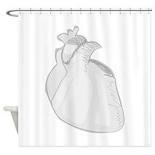 Sketch Heart Shower Curtain