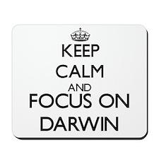 Keep Calm and Focus on Darwin Mousepad