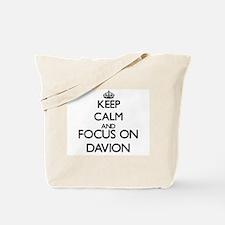 Keep Calm and Focus on Davion Tote Bag