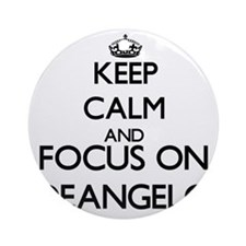Keep Calm and Focus on Deangelo Ornament (Round)