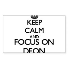 Keep Calm and Focus on Deon Decal