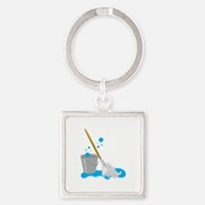 Bucket And Mop Keychains