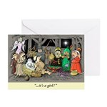 'Twisted Nativity' I Christmas Cards (pack of 6)
