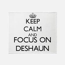 Keep Calm and Focus on Deshaun Throw Blanket