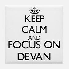 Keep Calm and Focus on Devan Tile Coaster