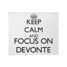 Keep Calm and Focus on Devonte Throw Blanket