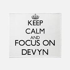 Keep Calm and Focus on Devyn Throw Blanket