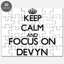 Keep Calm and Focus on Devyn Puzzle