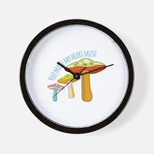 My Heart Mush Wall Clock