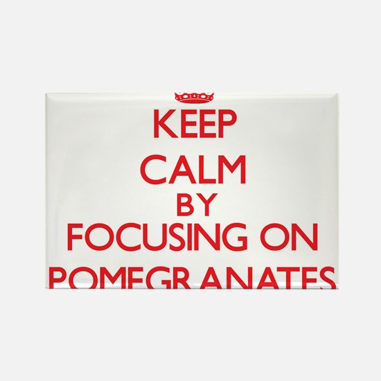 Keep Calm by focusing on Pomegranates Magnets