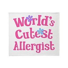 Allergist (worlds cutest) Throw Blanket