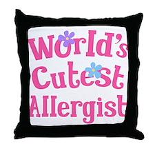 Allergist (worlds cutest) Throw Pillow