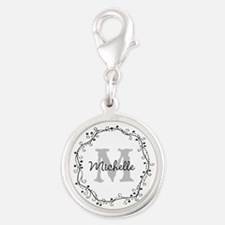 Personalized Monogram Charms With Swirl Design