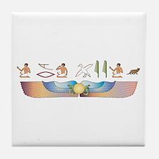 Ocicat Hieroglyphs Tile Coaster