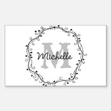 Personalized vintage monogram Decal