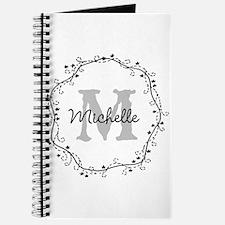 Personalized Monogram Wedding Journal