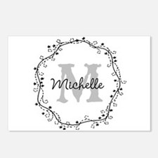Personalized vintage monogram Postcards (Package o