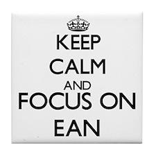 Keep Calm and Focus on Ean Tile Coaster