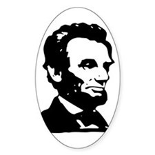 Abraham Lincoln Icon Oval Decal