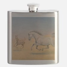 Arab Mare and Foal Flask