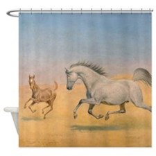 Arab Mare and Foal Shower Curtain