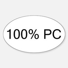 100% PC Oval Decal