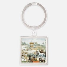 Country Fair Square Keychain