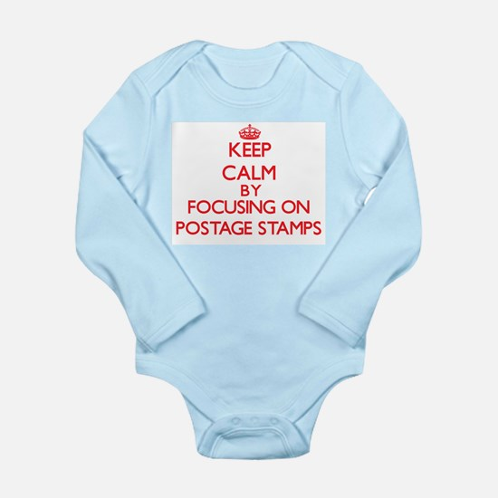 Keep Calm by focusing on Postage Stamps Body Suit