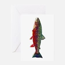 Brook Trout v2 Greeting Cards
